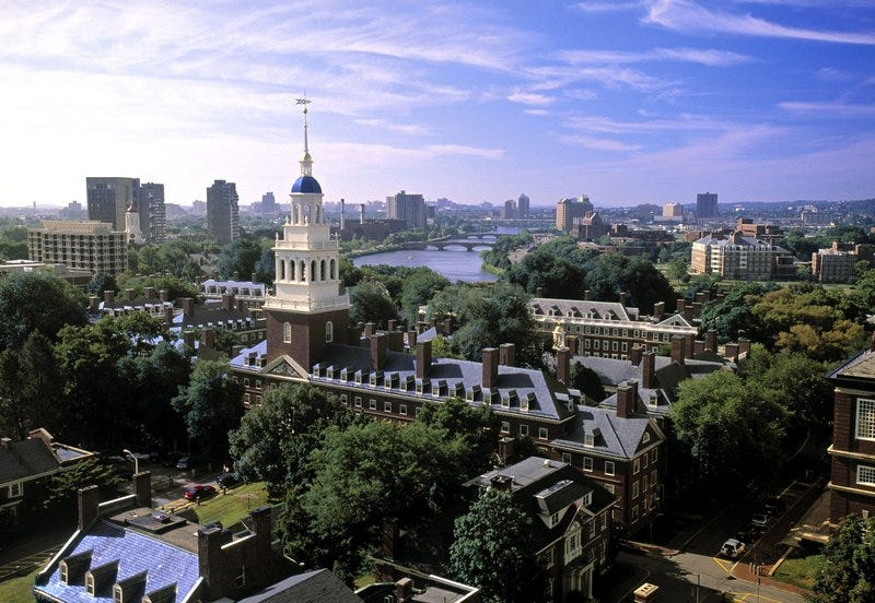 The campus of Harvard University in Cambridge, Mass.