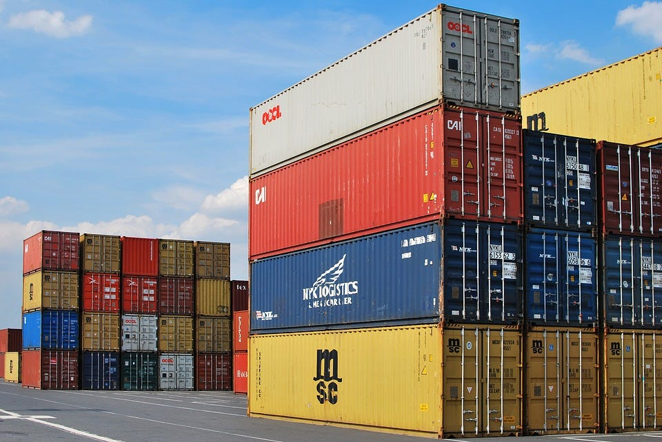 Dock, Container, Export, Cargo, Freight, Shipping